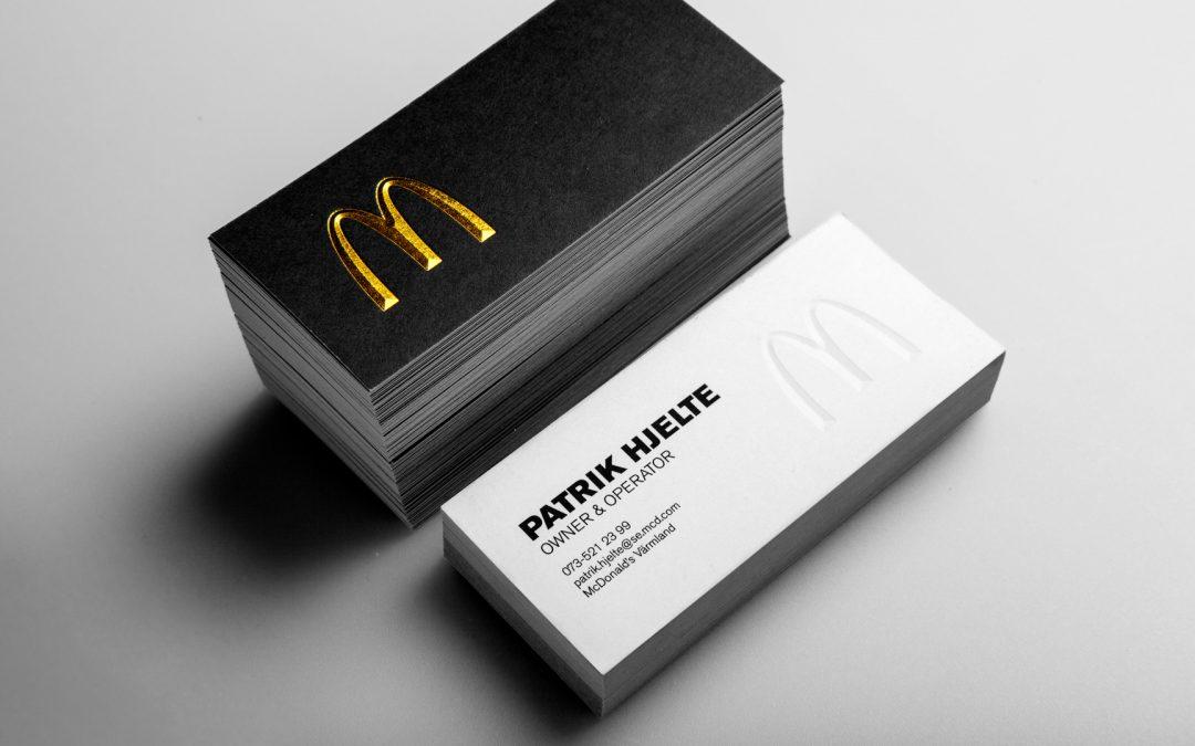 Visitkort för McDonald's